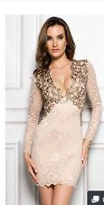 Holt Miami Heaven In Nude Gold Dress NWOT Size Medium $379