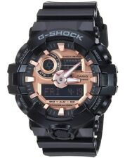 Casio G-Shock *GA700MMC-1A Front Button Glossy Black & Rose Gold Watch for Men