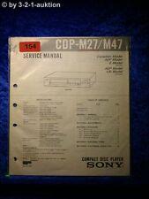 Sony Service Manual CDP M27 / M47 CD Player (#0154)