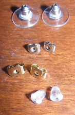 Earring backs, silver, gold, acrylic - replacement backs, jewellery findings