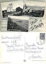 Cartolina saluti da Santa Giulia (Lavagna), vedutine - Genova, 1958
