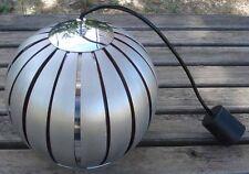 -Luminaire d'époque 1970 Suspension Montgolfière Lamelles d'Aluminium