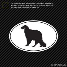 Borzoi Euro Oval Sticker Die Cut Decal Self Adhesive Vinyl dog canine pet