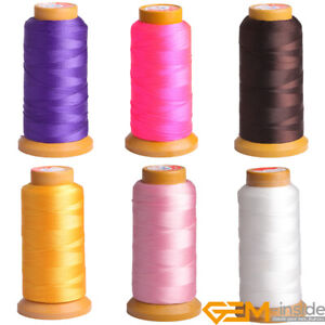 Polyester Sewing Thread Spool Beading Cord Jewelry Making 0.8mm 210D 230 Meters