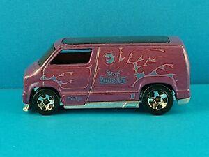 Hot Wheels Custom '77 Dodge Van #007/196 HW 2008 New Models Purple LOOSE
