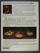 1979 Yamaha SG & SA-2000 Electric Guitars BB-1200 Bass photo vintage print Ad