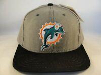 Miami Dolphins NFL Vintage Strapback Hat Cap American Needle Gray Black