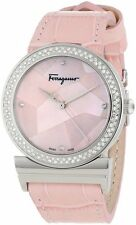 Salvatore Ferragamo Women's FG2010013 Grande Maison DIAMONDS Pink Leather Watch