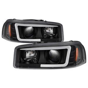 Spyder for GMC Sierra 1500/2500/3500 99-06 V2 Projector Headlights - DRL - Black