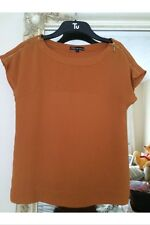 Ladies Millennium Autumn/Burnt Orange - Evening/Casual Top - Size Small (8/10)