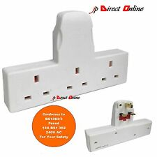 3 WAY MULTI PLUG MAINS BLOCK TRIPLE SOCKET ADAPTOR SPLITTER 13AMP UK PLUG 3 PIN