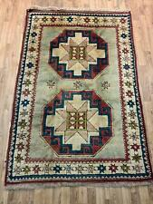 AN INTERESTING OLD HANDMADE KARZ TURKISH WOOL ON WOOL RUG (181 x 125 cm)