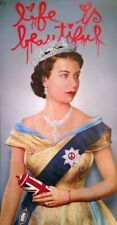 MR BRAINWASH LIFE IS BEAUTIFUL QUEEN ELIZABETH AUTHEN LITHOGRAPH PRINT POSTER