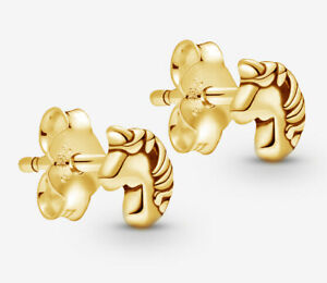 PANDORA ME My Magical Unicorn Tiny Stud Earrings 14K Gold Plated 298535C00