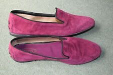 Tod's Suede Leather Women Loafers purple pink 37 EU UK 4