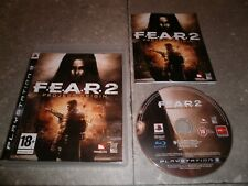 JEU PS3 PAL Ver. Française: F.E.A.R.2 PROJECT ORIGIN (FEAR) - Complet TBE