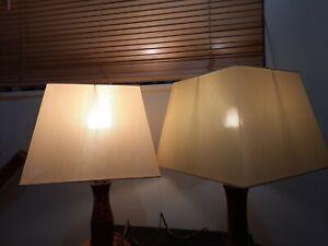 Vintage Set of 2  Gold lamp shades