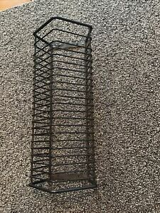 """CD Wire Storage Rack Holds 24 items Black Wall Hang 13.75"""""""