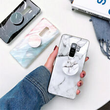 For Samsung Note 10+ S10e Note 9 Kickstand Marble Patterned Slim Soft Case Cover