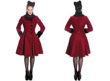Cappotti e giacche da donna rossa lunghezza al ginocchio in lana