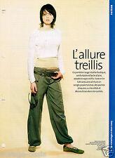 Pantalon à L'Allure treillis. AVANTAGES Mars 2003. Vintage Neuf non découpé.