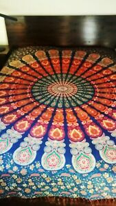 mandalaRajasthani Queen Size Bedspread Bed sheet/Wall Hanging