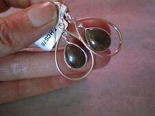 Opale DI andamooka Dangle Earrings, 8.5 CARATI, nel 5.17 GRAMMI 925 Argento Sterling