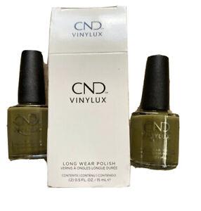 CND Vinylux Long Wear Nail Polish 0.5fl oz Cap & Grown #327 New 2 Pack
