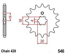 KR Ritzel 15Z Teilung 420 YAMAHA LB 50 Chappy 79-89 New... front sprocket
