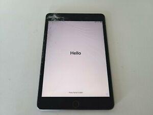 Apple iPad Mini 5th 64GB Space Gray WiFi + Cellular 4G LTE UNLOCKED - CRACKED !!