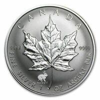 1999 1 oz Canada Silver Maple Lunar Rabbit Privy Coin (BU)
