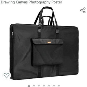 "Nicpro Art Portfolio Bag. 34"" x 42"" Water Resistant Carry Bag Soft Sided w/Strap"
