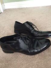 Men's Prada Black Patent Leather Formal Lace Up Shoes Sz 8