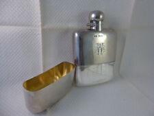 More details for superb antique solid silver hip flask, james dixon & sons 1920-1 278 grams