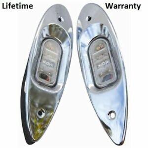 Marpac 7-6595 Boat Marine LED Advantage Side Lights Flush Mount Shark Eye