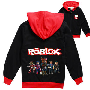 ROBLOX Boys Girls Spring and Autumn Jacket Kids Sweatshirts Hoodies Wear Coat