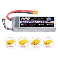 HRB 14.8V 4S 3600mAh LiPo Battery 35C-70C XT60 for RC Heli Car Drone Boat Model