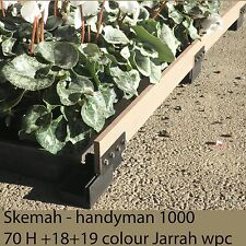 GARDEN EDGING - 60mm high Brown or Charcoal Recycled plastic. Curves easily