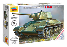 A Toy Model Kit ZVEZDA Battle Tanks Armored Forces WWII Snap Fit Scale 1/72