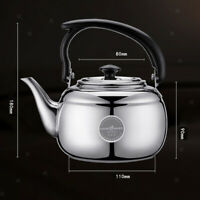 Stainless Steel Tea Kettle Coffee Tea Hot Water Pot Stovetop Teapot Silver