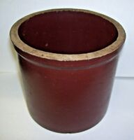 Antique Small Brown Stoneware Crock