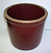 Antique Small Brown Stoneware Crock