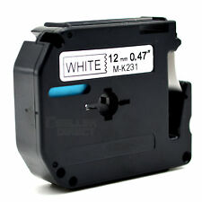 Compatible for Brother P-touch Labels M-K231 MK231 WHITE Tape PT65 PT70 PT80