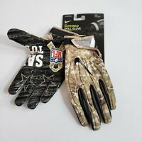 NWT Nike NFL Superbad Salute To Service Padded Camo Football Gloves 2XL XXL NEW