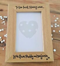 BEST NANNY GIFT PERSONALISED PHOTO FRAME - CAN BE MADE TO ANY GRANDPARENT 6X4