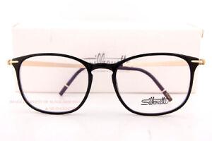 Brand New Silhouette Eyeglass Frames Momentum Fullrim 2920 9020 Black Onyx/Gold