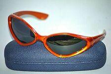 ZEAL OPTICS SUSPECT Orange Plastic Sunglasses Made in JAPAN