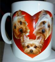 Yorkie Dog Yorkshire Terrier Mug Gift, Yorkies in Hearts, Xmas Gift, Mothers Day