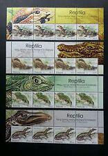 Rare Reptiles Of Malaysia 2005 Crocodile Chameleon Lizard (stamp with title) Mnh