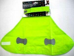 Pet Dog HIGH Visibility Hi Viz Fluorescent Reflective SAFTEY Vest Coat Small new